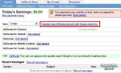 Google Adsense 整合了 Google Analytics 邀请链接