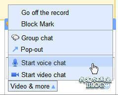 在 Gmail 中开始视频或者语音聊天