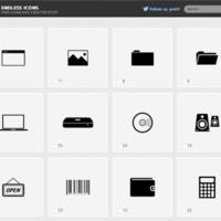 Endless Icons:每日更新的黑白图标集