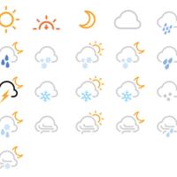 一组应用于天气的 Web-Font 图标:Forecast Font