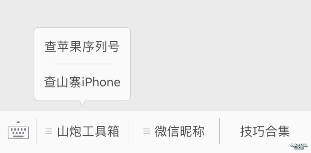 查询山寨iPhone