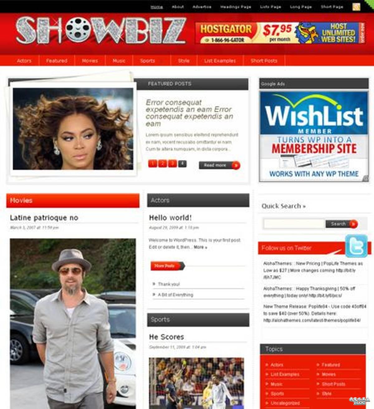 CelebrityPress WordPress Theme