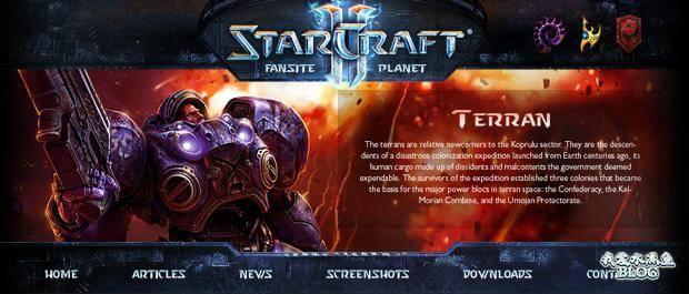 Free Wordpress 3.0 Theme for StarCraft II: Enter the  Fascinating World!