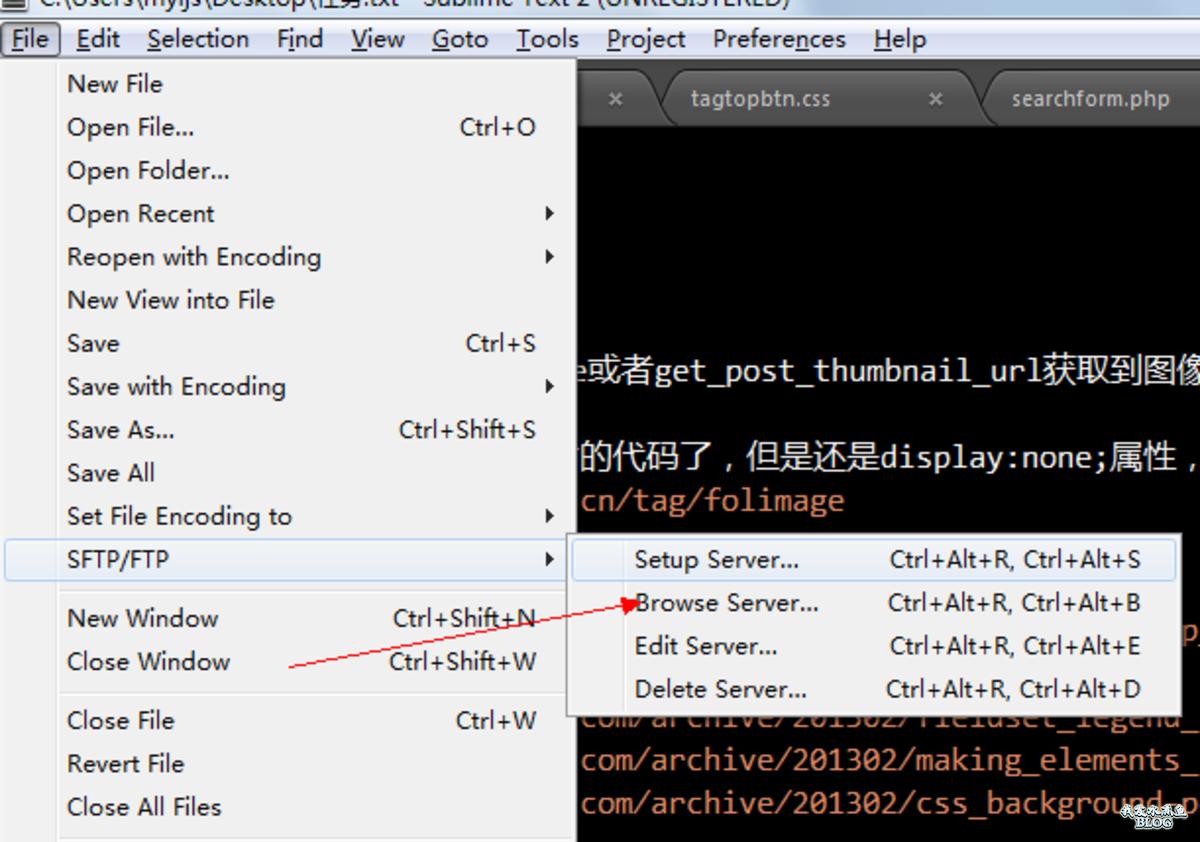 使用 SFTP 连接远程服务器