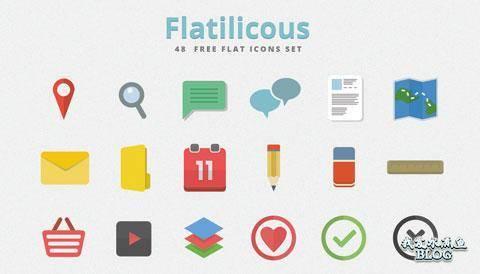 Flatilicious - Flat Icon Set