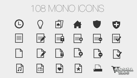 Mono Flat Icons