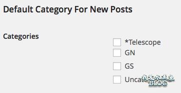 WordPress Default Category