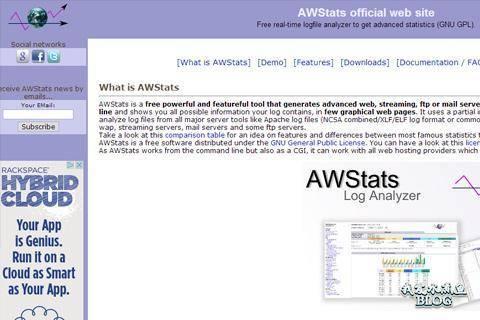 awstats free log file traffic analysis