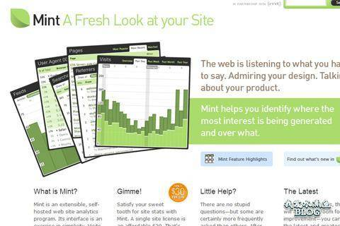 have a mint design analytics counter interface