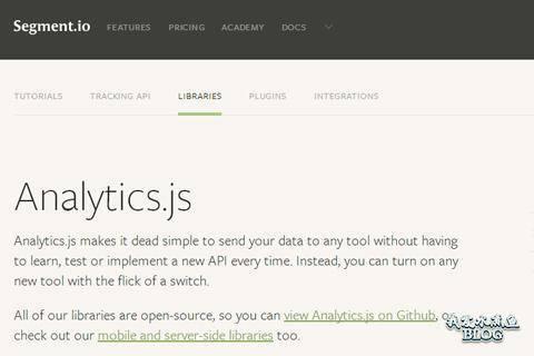 javascript open source library analytics js
