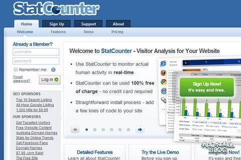 stat counter visitor analysis webapp traffic numbers