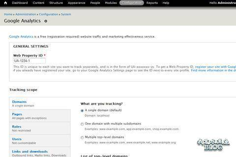 drupal google analytics project open source extension