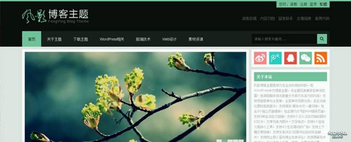 FengYing – 灰黑配色国人WordPress博客主题