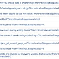 被访 URL 带有 from=timeline&isappinstalled=0 是来自微信朋友圈