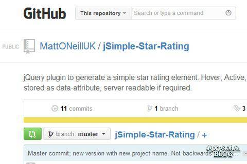 jsimple star rating system plugin open source