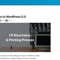 WordPress 5.0 发布,新增基于「块」的编辑器 Gutenberg